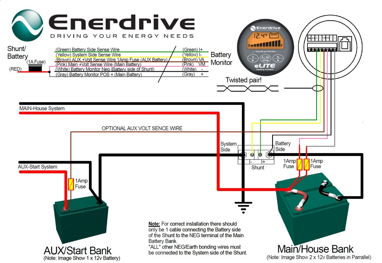 Enerdrive-Battery-Monitor-connections
